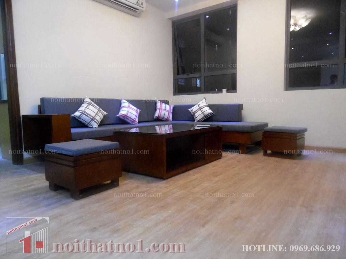 Bộ bàn ghế gỗ chung cư hiện đại