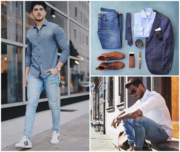 Sơ mi nam - item thời trang với vô vàn cách phối két hợp trang phục