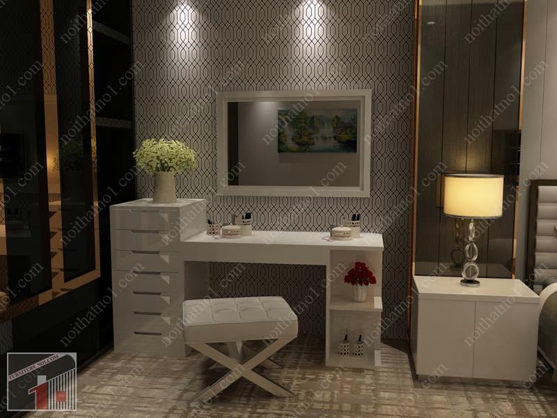 Mẫu bàn trang điểm cho phòng cưới đơn giản mà đẹp