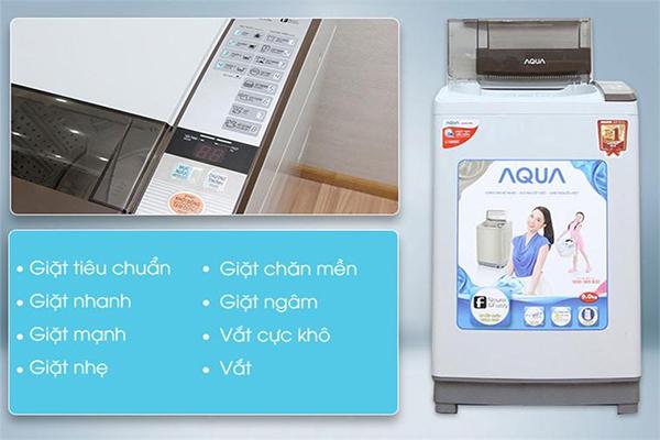 Cách sử dụng máy giặt Aqua 9kg đúng cách, chính xác