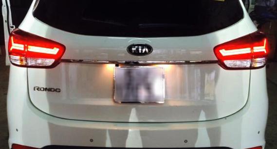 Độ đèn gầm xe Kia Rondo