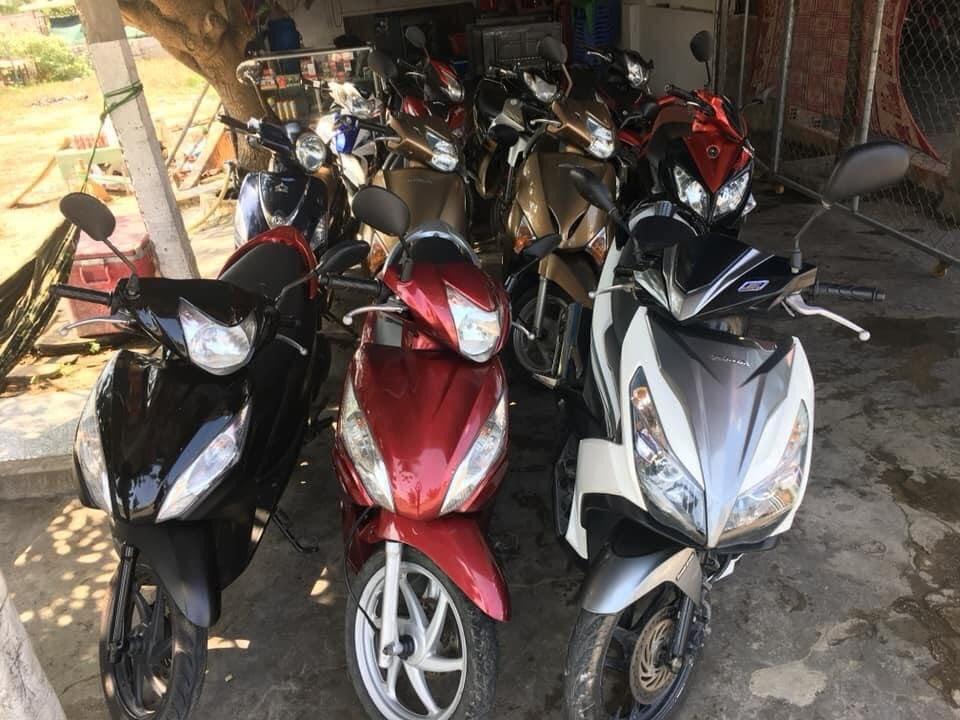 Cho thuê xe máy Nhơn Lý FLC Thanh Danh có đầy đủ các loại xe: xe ga, xe số…